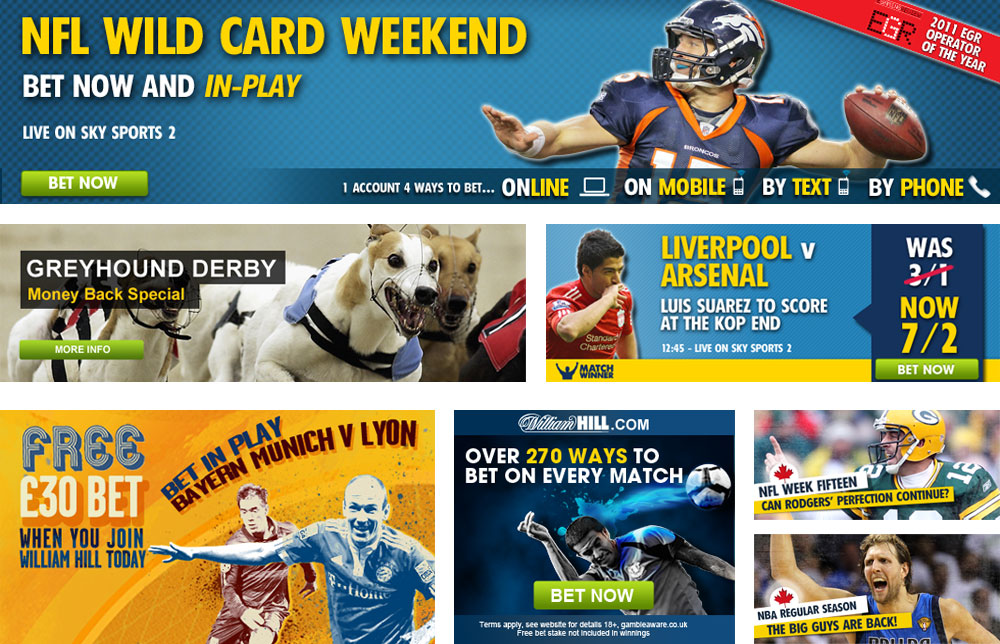 William Hill - Website, brand & motion design and online marketing