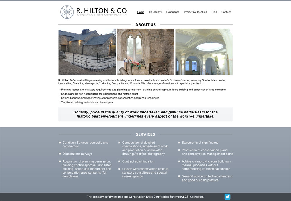 R Hilton - web, brand, logo and print design