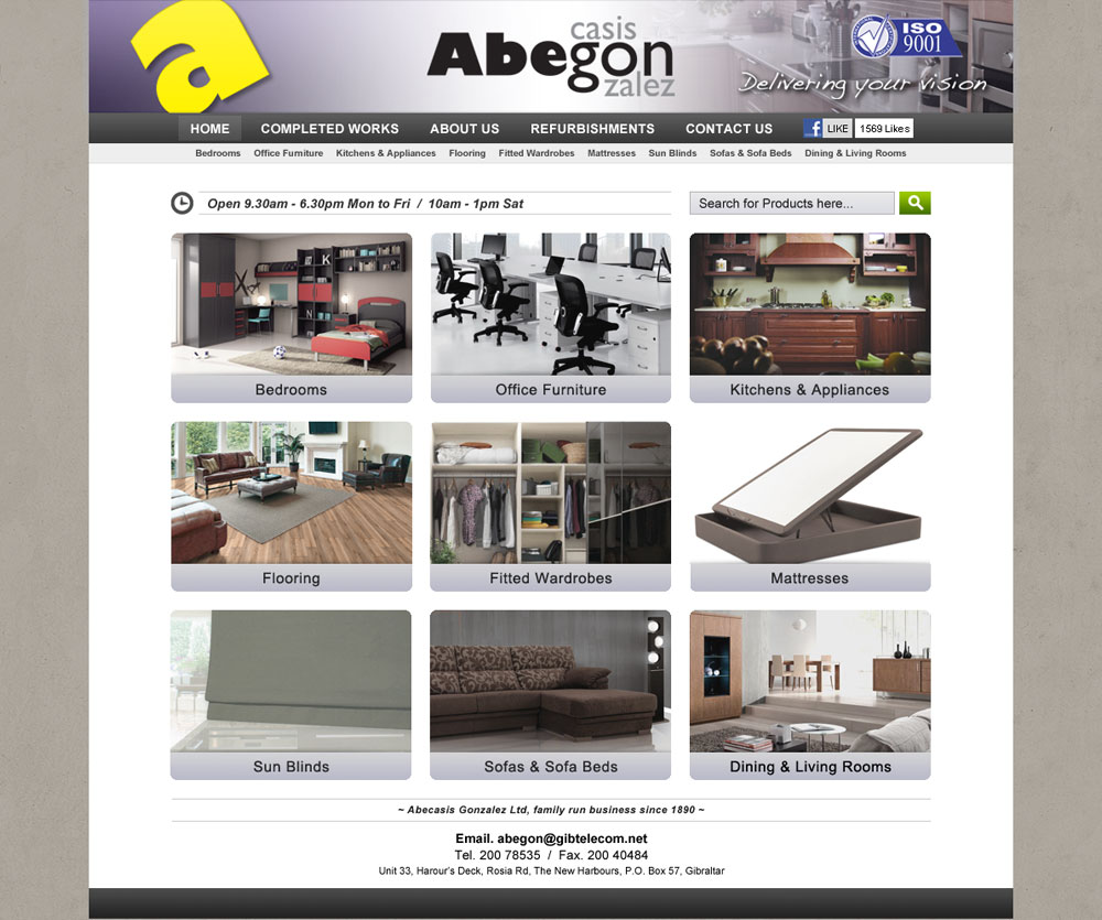 Abegon website design