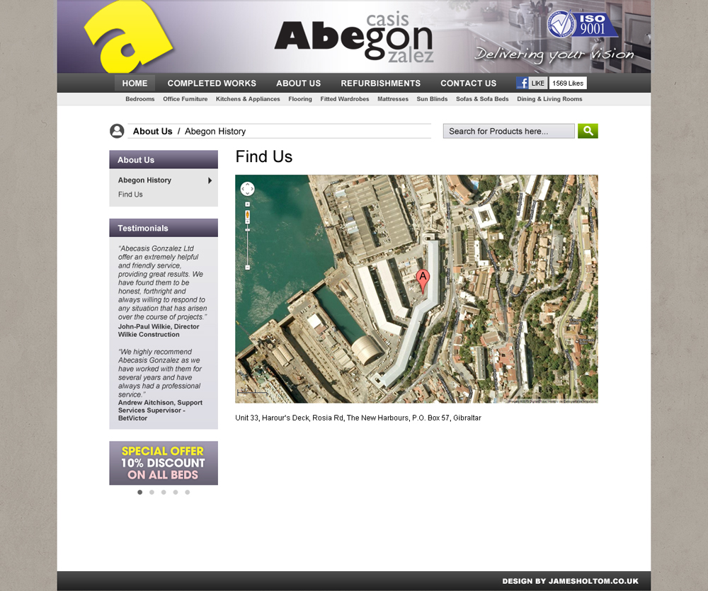 Abegon website design