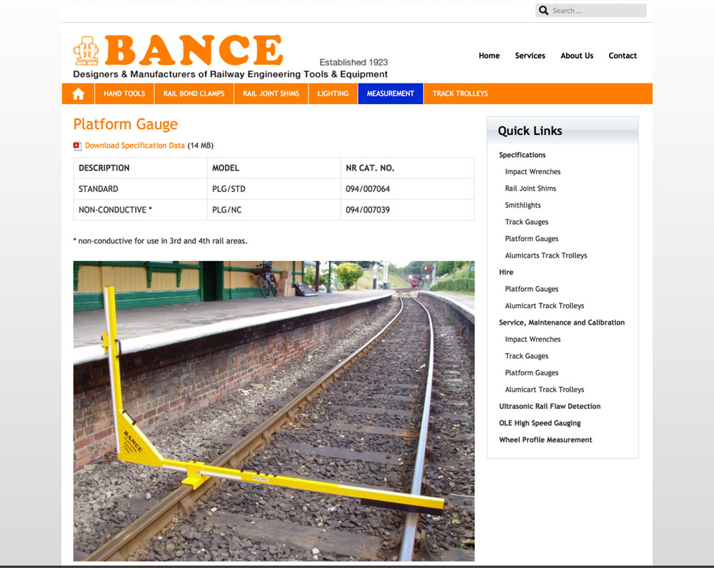Bance website design
