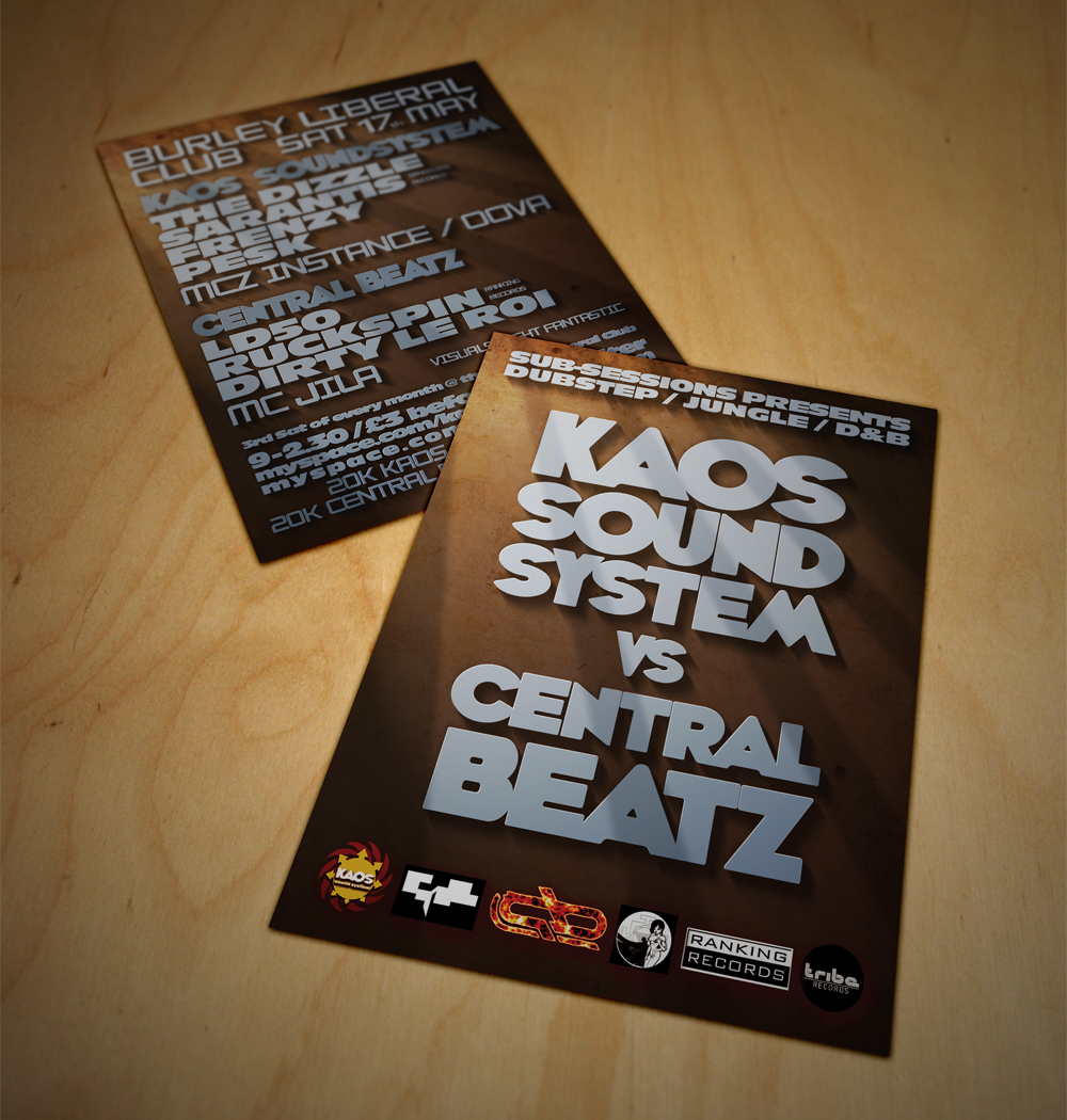 Music Events - graphic design for music promotional material and marketing