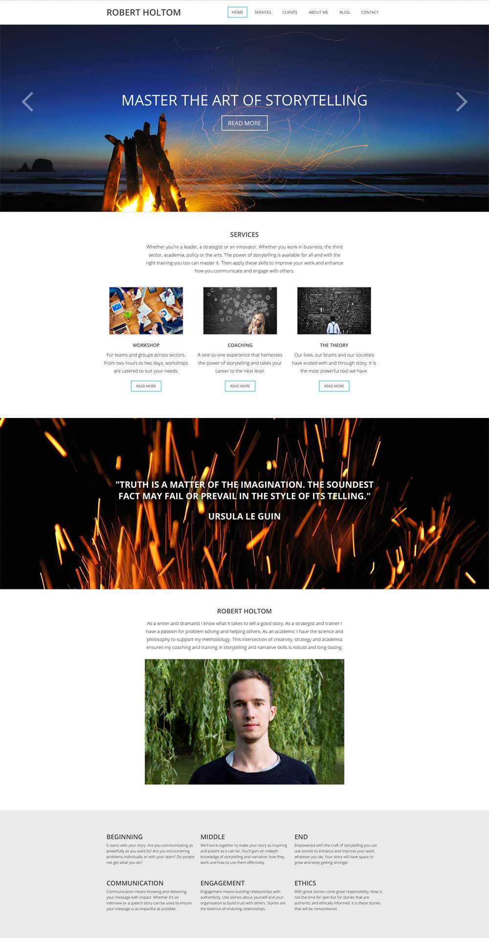 Robert Holtom - Print and web design